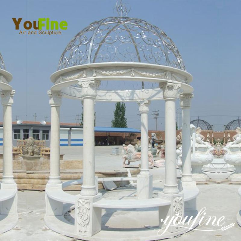 Garden White Marble Stone Gazebo
