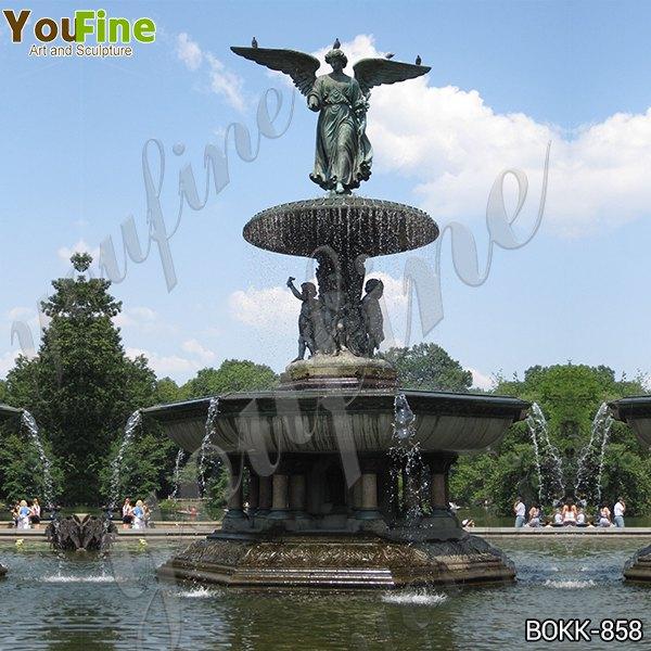 Large Antique Bronze Angel Sculpture Fountain for Sale BOKK-858