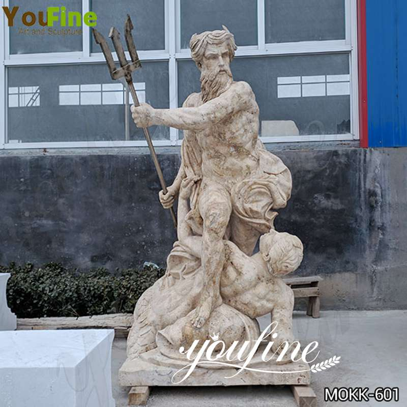 Antique Marble Neptune Calming the Waves Statue for sale MOKK-601