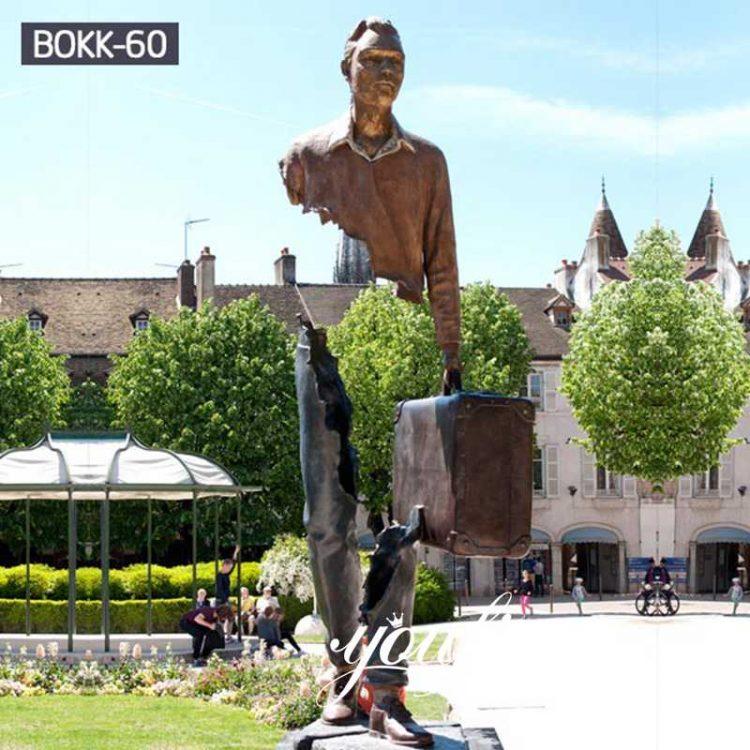 Artistic Creative Bronze Bruno Catalano Traveller Statue for Sale BOKK-60