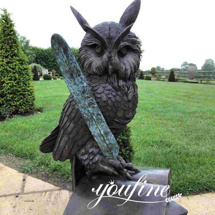 Bronze Owl Sculpture Outdoor Decoration for sale BOKK-887