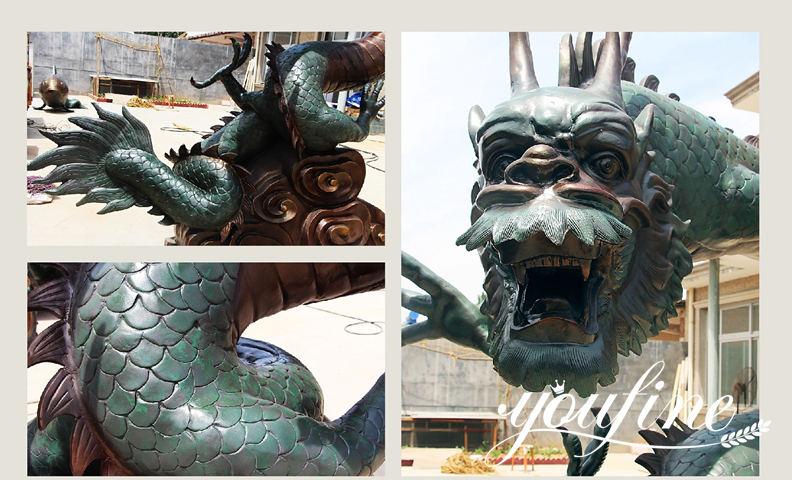 Bronze dragon statue