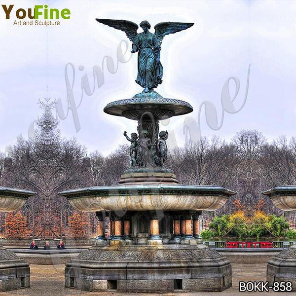 Large Antique Bronze Angel Sculpture Fountain