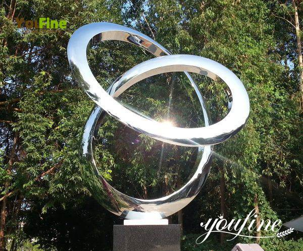 Large Stainless Steel Abstract Sculpture Outdoor on Sale  CSS-346