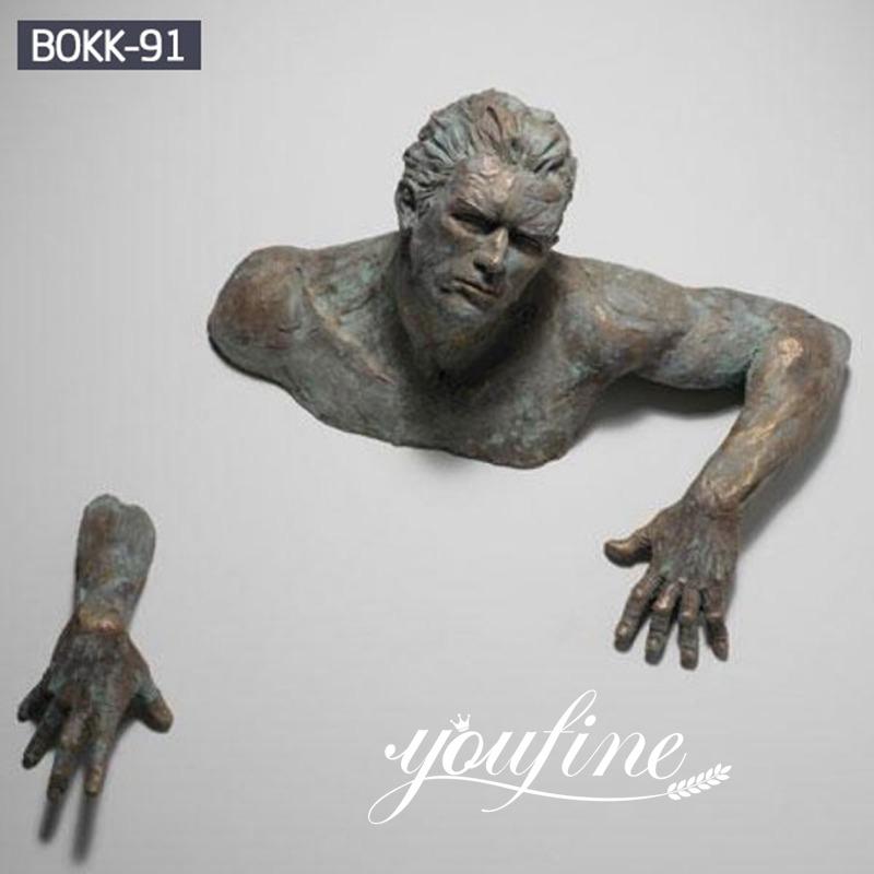 Modern Art Matteo Pugliese Bronze Sculpture for Wall Decoration on Sale BOKK-91