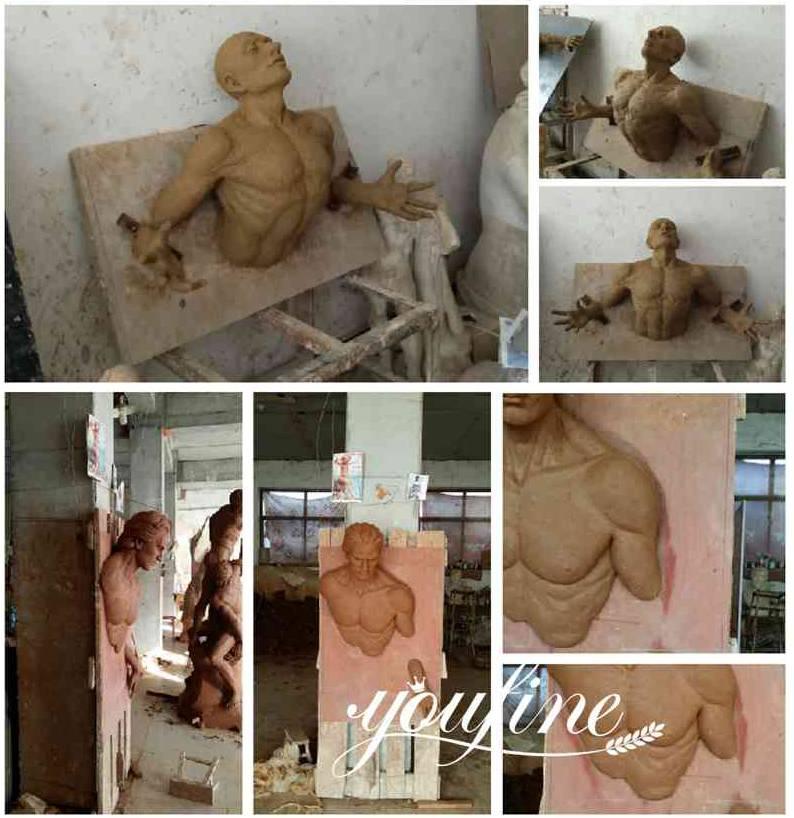 Modern Bronze Sculpture,