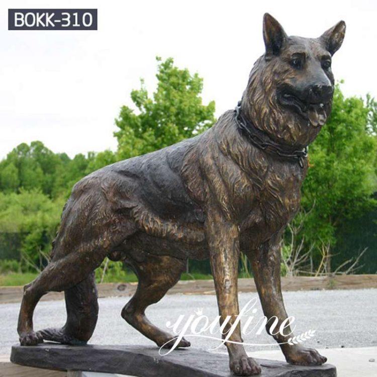 Vivid Life Size Bronze Dog Statue for Sale  BOKK-310