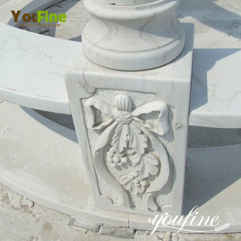 marble stone gazebo details