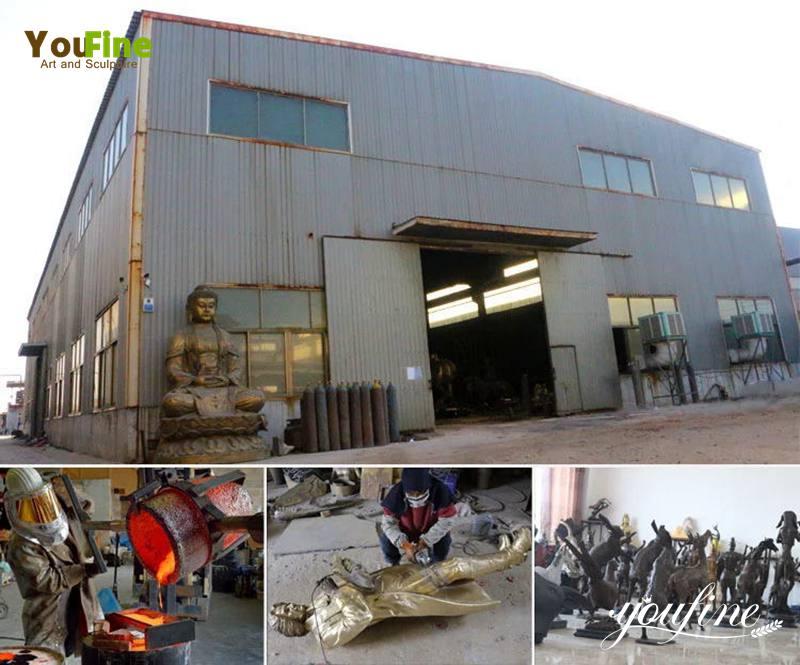 life-size Bronze lion statue factory