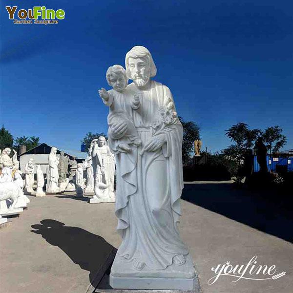 Life-Size Saint Joseph Marble Statue on Sale CHS-257