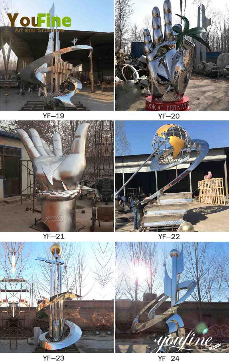 outdoor modern metal sculpture for sale