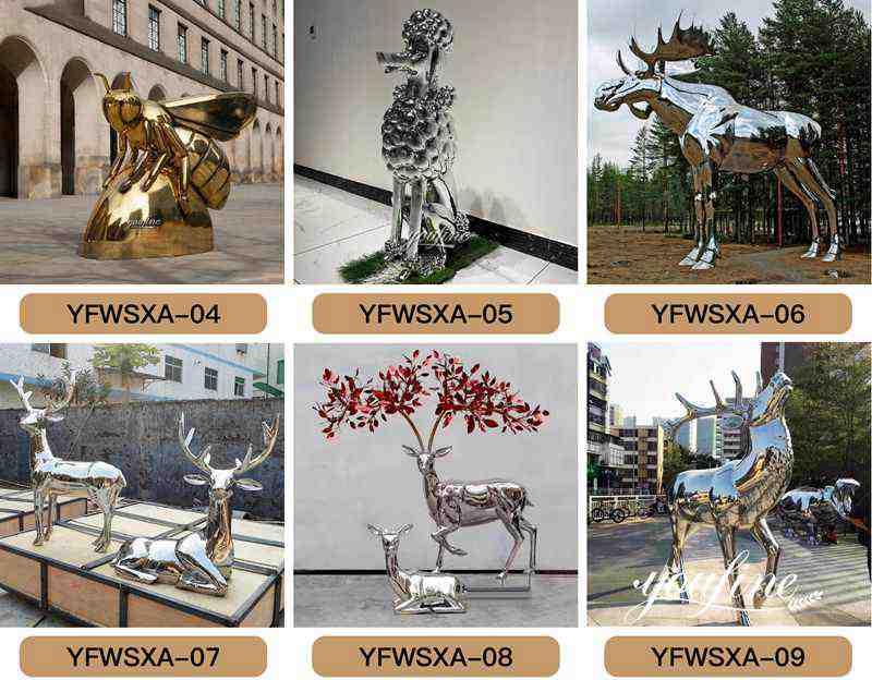 Abstract metal sculpture-
