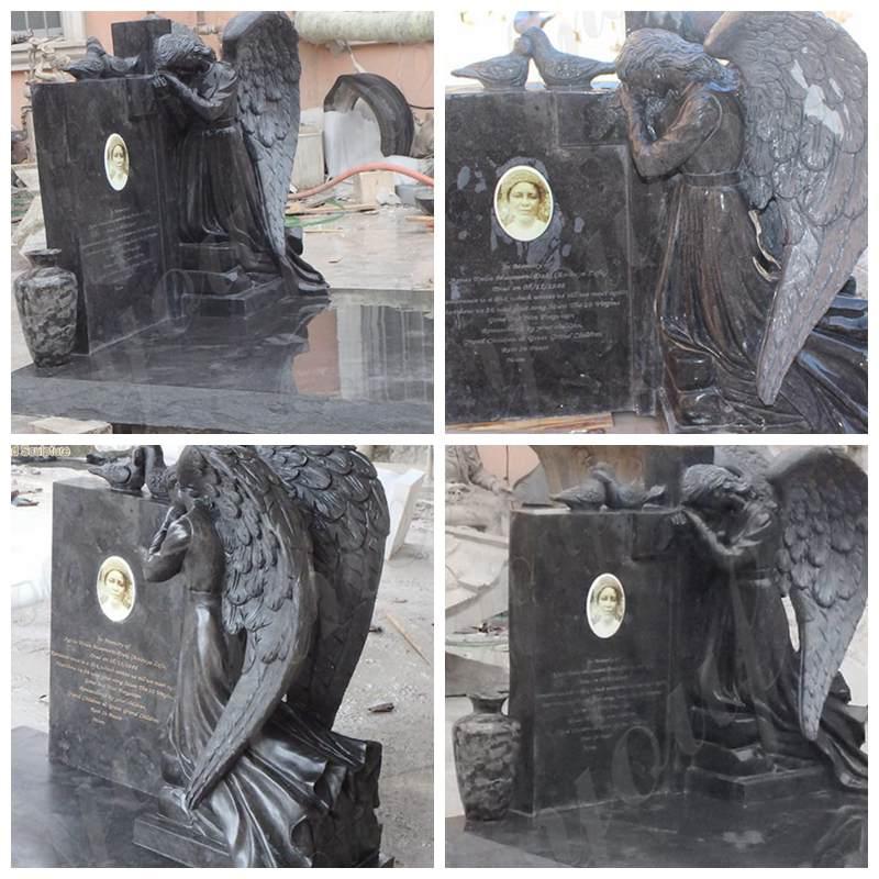 Black Granite Tombstone Memorial