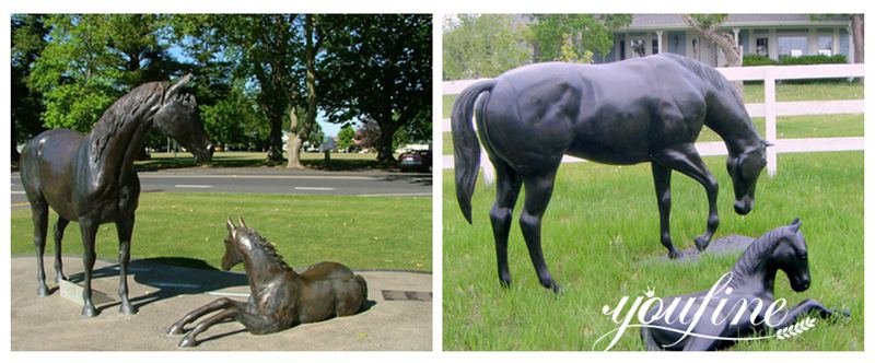 Bronze-abstract-horse-statue