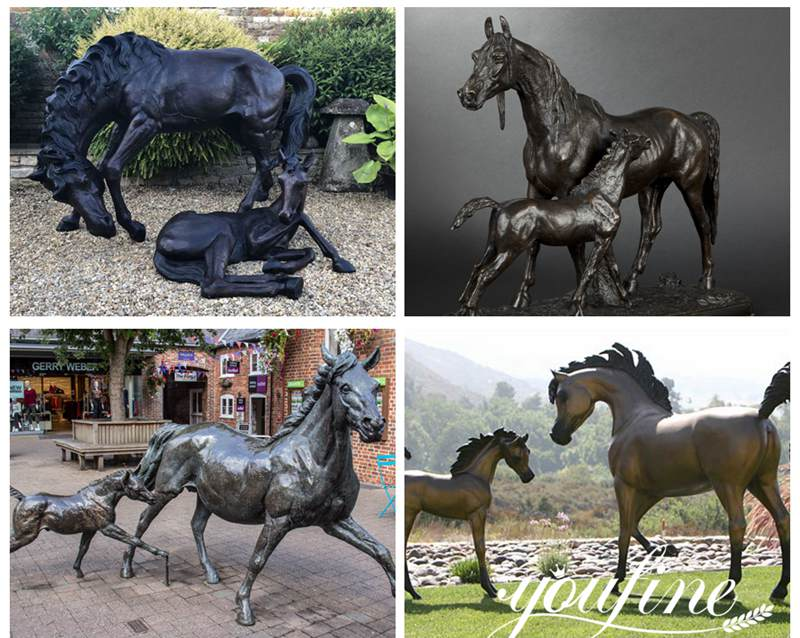 Bronze abstract horse statue