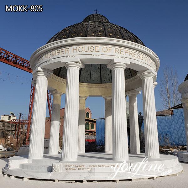Customized Outdoor Marble White Gazebo for Wedding Decor for Sale MOKK-805