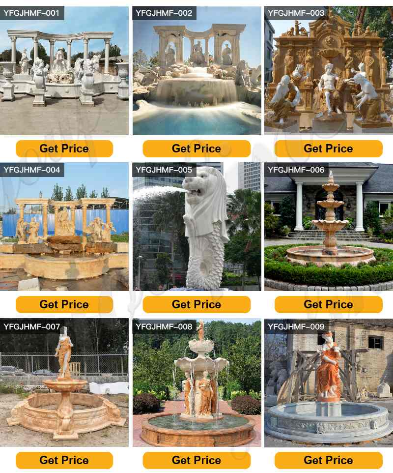 Decoration Outdoor Marble Water Fountain for sale MOKK-797