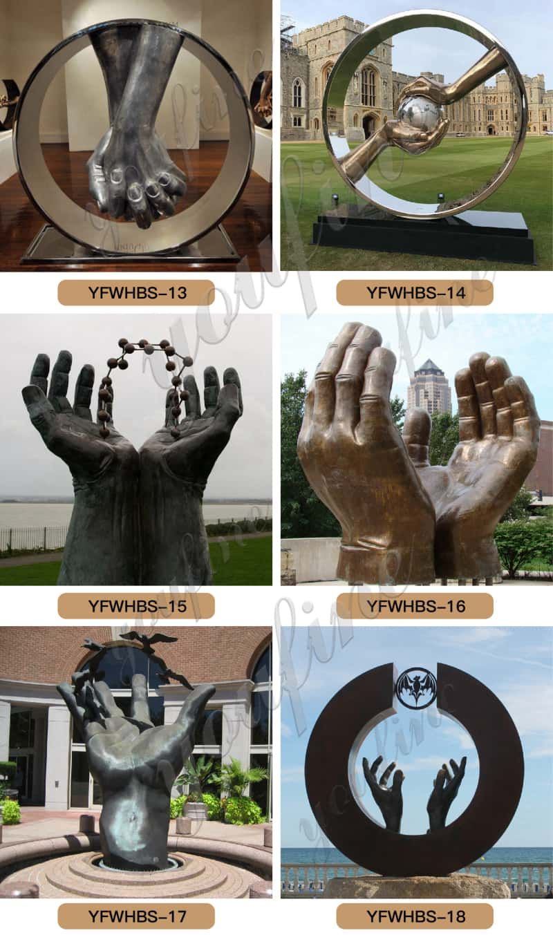 Hand sculpture decor