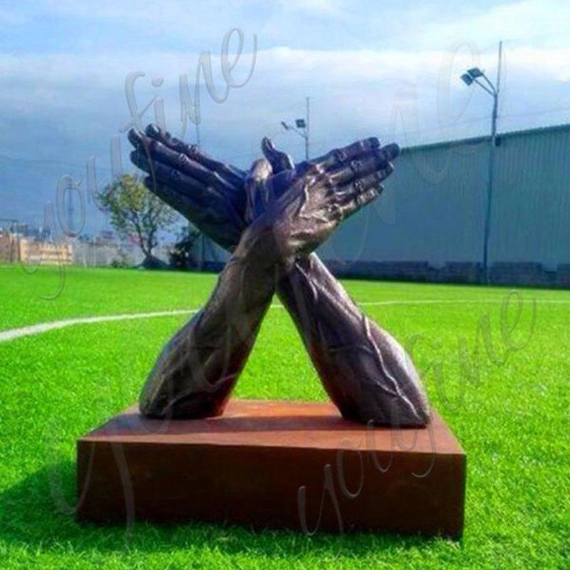 Large Bronze Hand Sculpture Lawn Decor for Sale BOKK-530