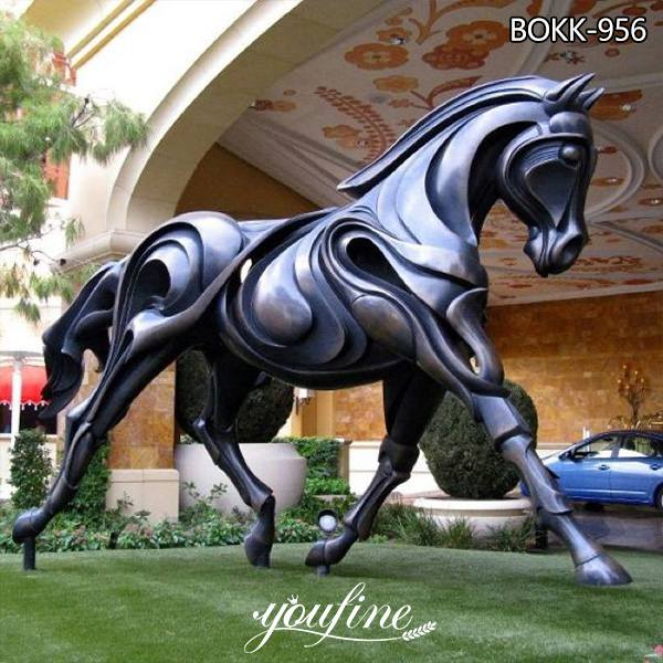 Large Modern Bronze Abstract Brentina Horse Statue from Supply Factory BOKK-956