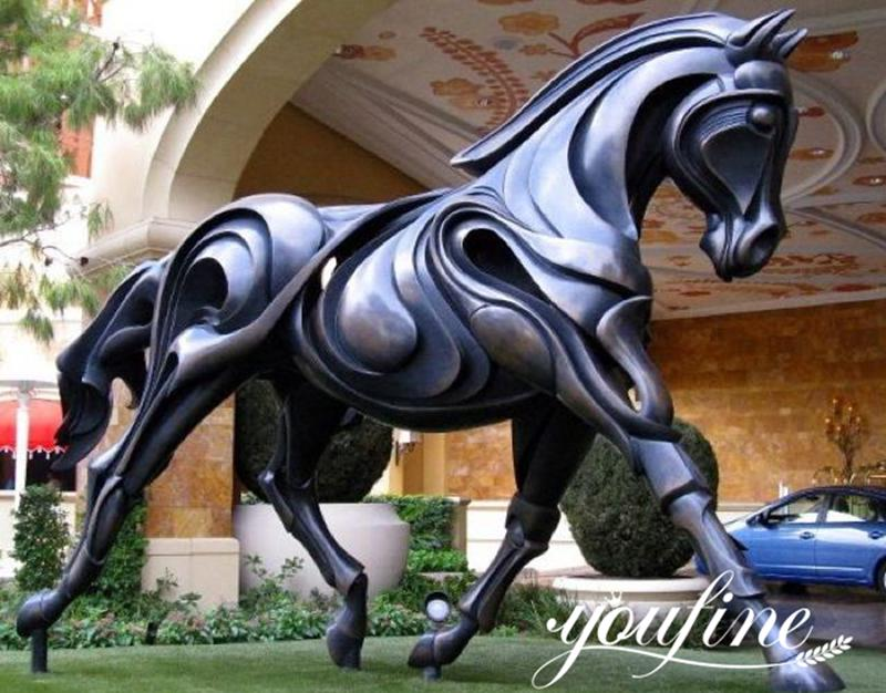 Large Modern Bronze Abstract Brentina Horse Statue from Supply Factory