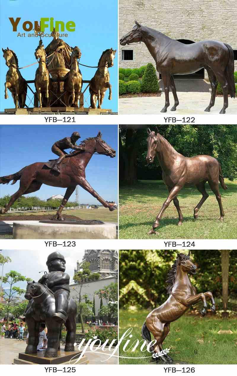 Life Size Antique Bronze Horses Statue for Sale