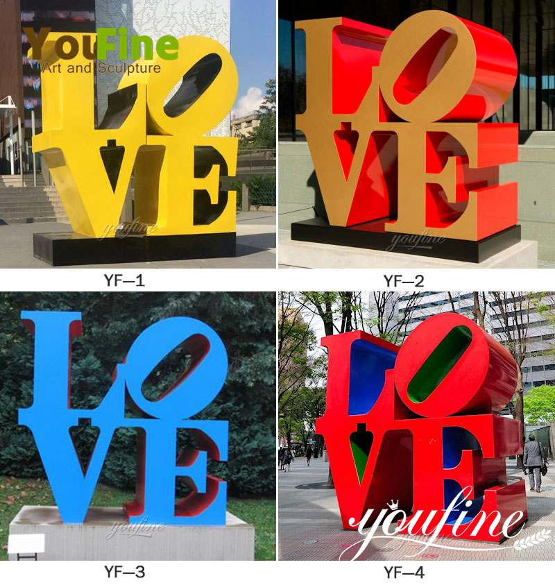 Modern Metal Stainless Steel Love Sculpture Decoration for sale