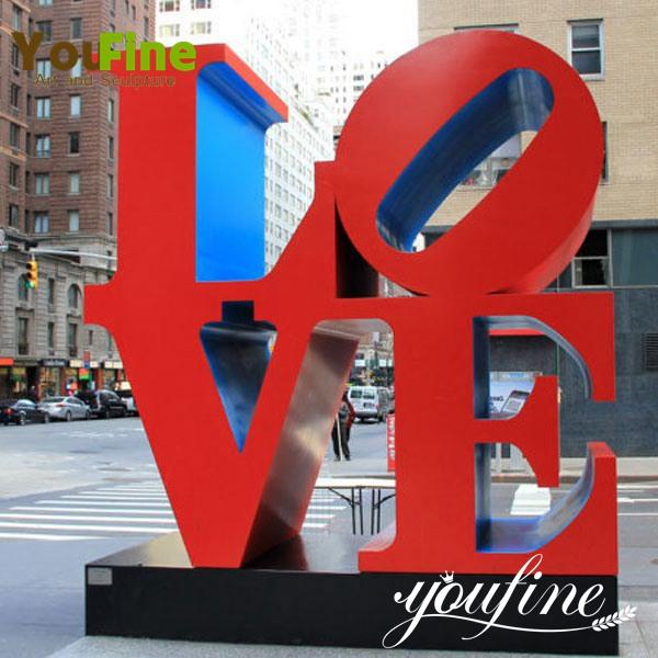 Modern Metal Stainless Steel Love Sculpture Decoration CSS-42