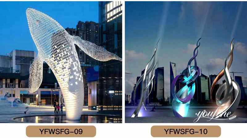 Modern abstract metal sculpture,