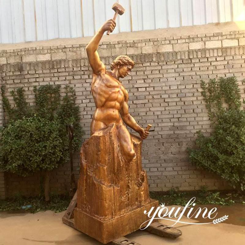 Outdoor Decor Bronze Self Made Man Statue for Sale