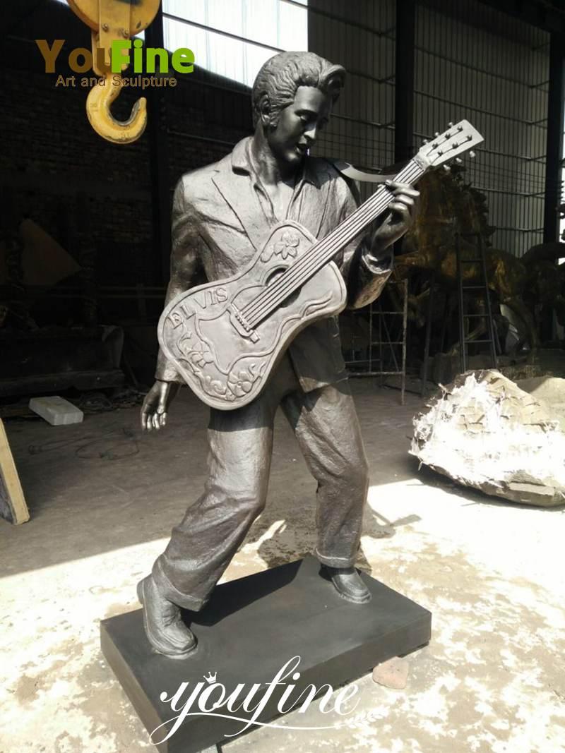 Life Size Famous Elvis Presley Bronze Figure Sculpture for Sale