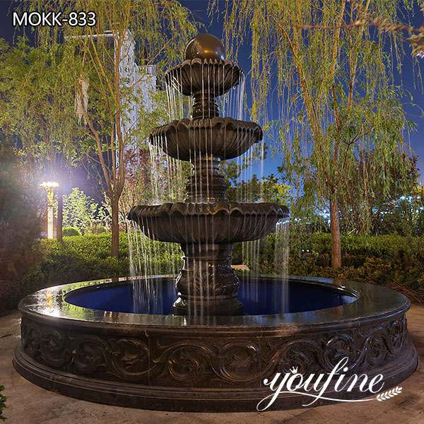 Outdoor Marble Water Fountain Yard Decoration for sale MOKK-833
