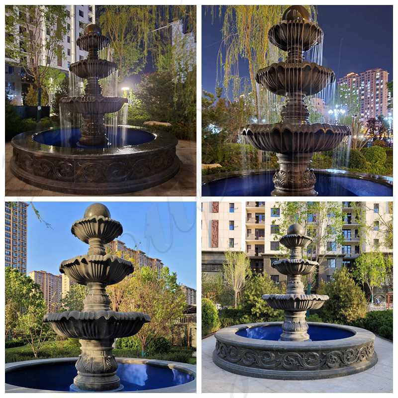 Outdoor Marble Water Fountain Yard Decoration for sale