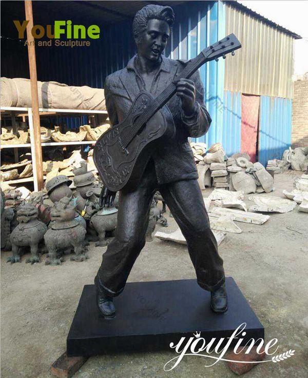 Life Size Famous Elvis Presley Bronze Figure Sculpture for Sale BOKK-03