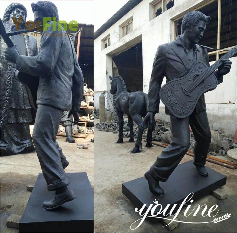 Famous Elvis Presley Bronze Figure Sculpture for Sale