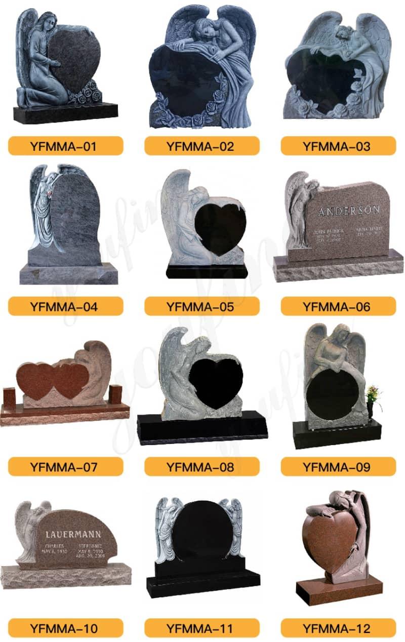 granite tombstone designs