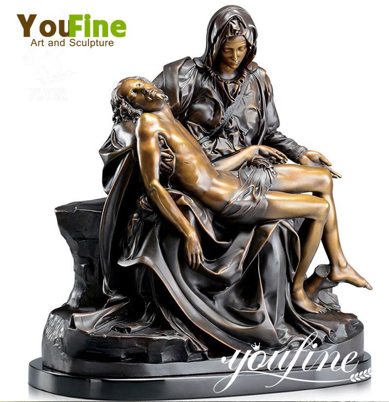 Famous Life Size Religious Bronze Pieta Sculpture for Sale