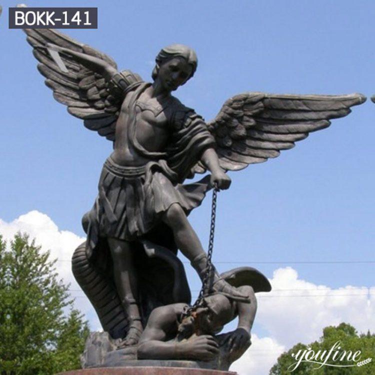 Fine Cast High-quality Bronze Saint Michael Statue for Sale BOKK-141