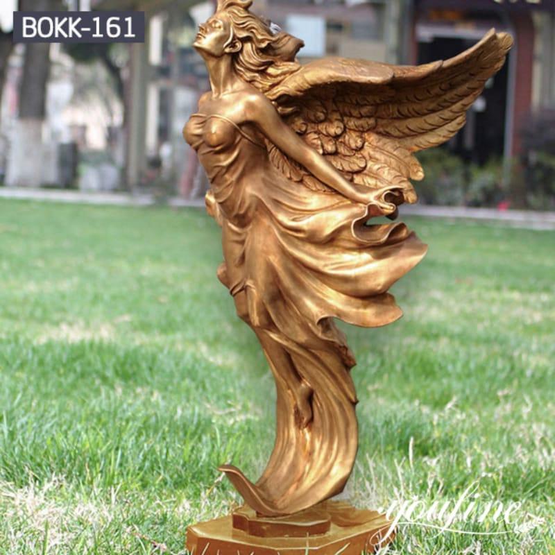 Fine Casting Bronze Angel Statue for Garden Decor for Sale BOKK-161