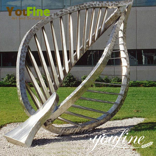 Garden Large Stainless Steel Metal Leaf Sculpture for Sale CSS-25