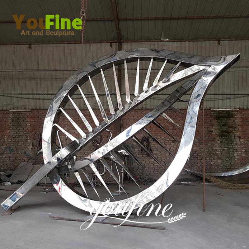 Garden Outdoor Large Stainless Steel Metal Leaf Sculpture for Sale