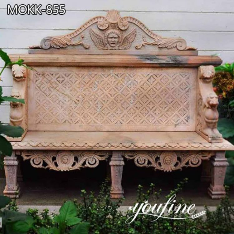 High Quality Natural Red Marble Bench from Factory Supply MOKK-855
