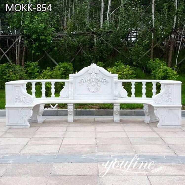 High Quality Natural White Marble Bench for Garden for Sale MOKK-854