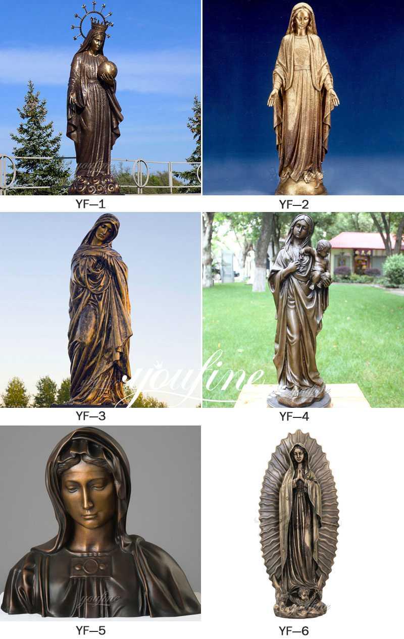 Life Size Religious Bronze Pieta Mary Sculpture for Sale