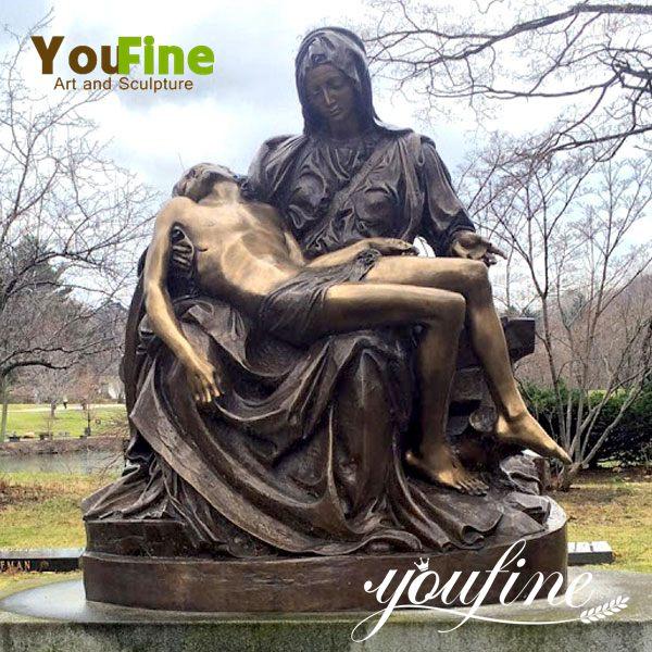 Life Size Religious Bronze Pieta Sculpture for Sale BOKK-612
