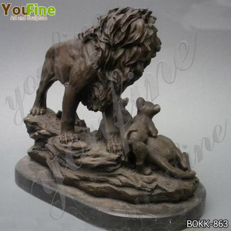 Life-size Antique Bronze Lion Family Statue for Sale BOKK-863