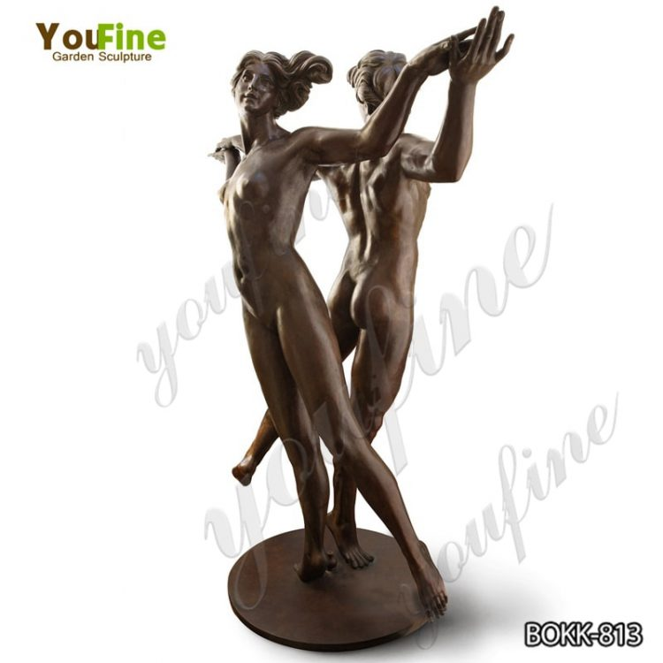 Life-size Antique Dancing Bronze Figure Sculpture Nude Statue for Sale BOKK-813