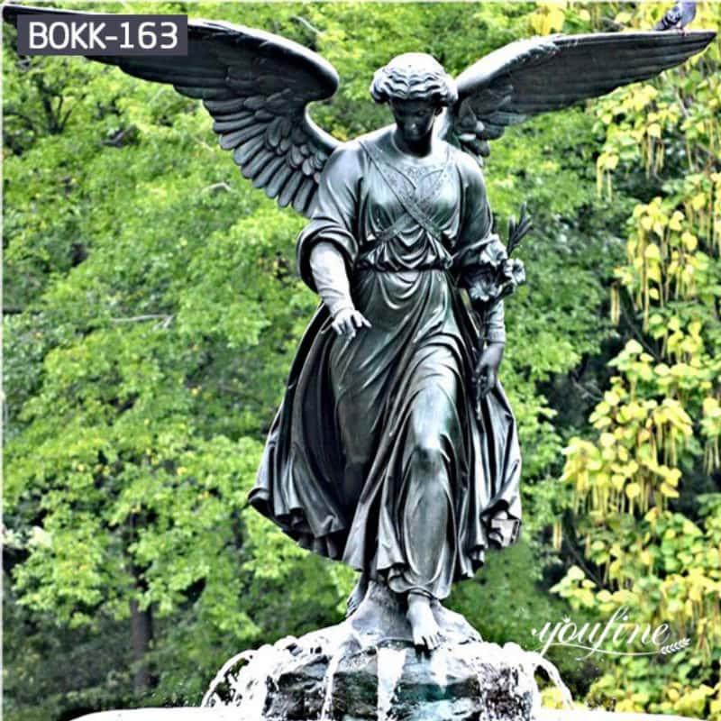 Outdoor Life-size Bronze Angel Statue for Garden Decor for Sale BOKK-163