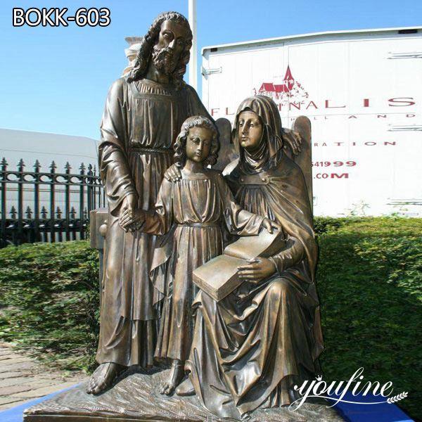 Religious Bronze Holy Family Statue for Church for Sale BOKK-603