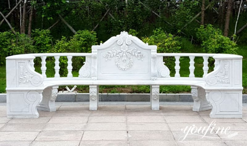 White marble bench
